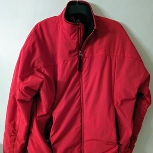 Chaps Large Two Toned Red Coat